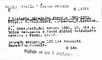 Z historie Národního divadla 1883-1983