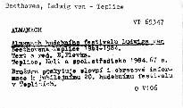 Almanach hudebního festivalu Ludwiga van Beethovena