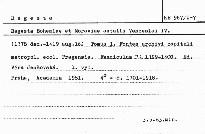 Regesta Bohemiae et Moraviae aetatis Venceslai IV.                         (Tomus I,)