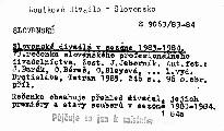 Slovenské divadlá v sezóne 1983-1984