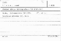 Přehled vývoje bibliografie v ČSR 1945-