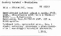 Bratislavské hudobné telesá a spolky 1945-1985