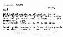 Malá československá encyklopedie                         ([Díl] 3)