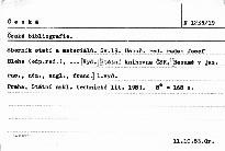 Česká bibliografie                         ([Sv.] 19)