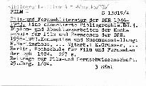 Film- und fernsehliteratur der ddr 1946-
