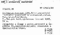 Collegium musicum 1985.