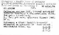 Collegium musicum 1986.