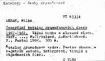 Generální katalog gramofonových desek 1967-1982