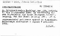 4. Internationales Bachfest der DDR
