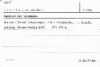 Handbuch der welskunde.