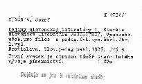 Dejiny slovenskej literatúry 1