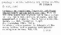 Ecclesia metropolitana Pragensis catalogus collectionis operum artis musicae                         (Pars 2)
