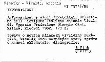 Informazioni e studi vivaldiani. 3.