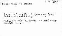Vývoj české a slovenské hudby