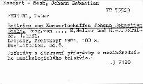 Beitrage zum Konzertschaffen Johann Sebastian Bachs