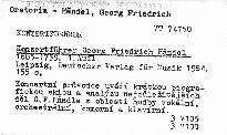 Konzertführer Georg Fiedrich Händel
