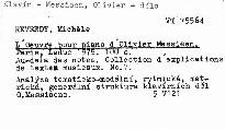 L'oeuvre pour piano d'Olivier Messiaen