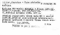 Ročenka Národního divadla v Praze 1985-