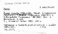 Česká divadla 1980-1982