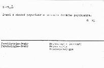Úvahy psychologicko-psychiatrické