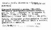 Slovenske divadla v sezone 1981-1982