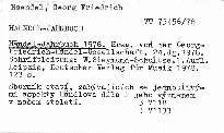 Händel-Jahrbuch 1978