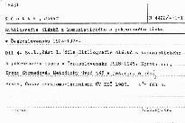 Bibliografie clanku z komunistickeho a p