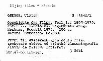 Geschichte des films.