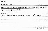 Soupis československých geologických periodik a bibliografických zkratek jejich názvů