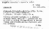 Almanach Národniho divadla 1983