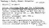 Johann Sebastian Bach und die Aufklarung