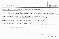 Historia Universitatis Carolinae Pragensis 1983                         (Tomus 23, Fasc. 1)