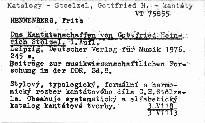Das Kantatenschaffen von Gottfried Heirich Stölzel