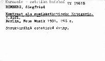 Kontrast als musikästhetische Kategorie