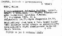 Z korespondence Antonína Dvořáka