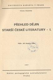 Přehled dějin starší české literatury