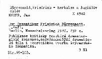 Der Dramatiker Friedrich Dürrenmatt