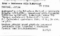 Scénografie díla Bohuslava Martinu v Brněnském div