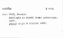 Antologie ze starší české literatury