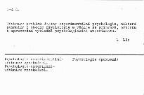 Experimentalna psychologia