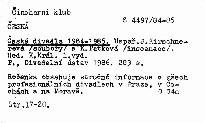 Česká divadla 1984-1985