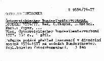 Osterreichischer bundestheaterverband.
