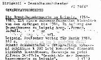 Die Gewandhauskonzerte zu Leipzig