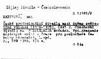 České profesionální divadlo mezi dvěma světovými válkami                         (Část 2,)