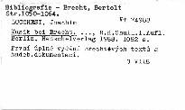 Musik bei Brecht