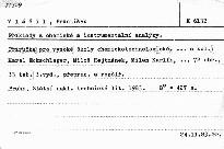Příklady z chemické a instrumentální an