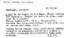 L'art de la fugue de J. S. Bach