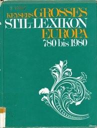 Keysers grosses Stil-Lexikon Europa