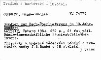 Studien zur Bach-Überlieferung im 18. Jahrhundert