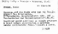 Rousseau und die Musik oder von der Zuständigkeit des Dilettanten